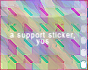 12k support sticker