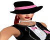 Black hat/pink ribbon