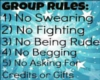 group rules sign