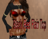 Black Red Flair Top
