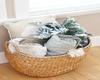Christmas Pillows/Basket
