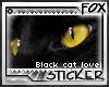 [F] Black Cat Stamp