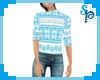[S] Xmas Blue Sweater