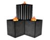 Black/Grey Flame box's