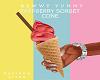 Raspberry Sorbet Cone