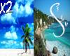 Beach x2 Backgrounds