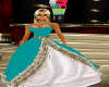 TEAL XMAS GOWN