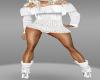 {LA} Sweater dress w/boo