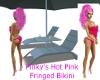 PinkyHotPinkFringdBikini