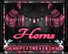 jewled horns pink