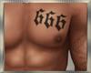 Chest Tattoo 666