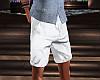Khaki White Shorts