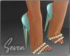 !7 Aqua Shimmer Shoes