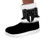 4-Blk/White Winter Boots