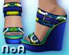 *NoA*Flower Wedge Shoes2