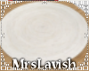 White Round Rug