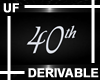 UF Derivable 40th Sign