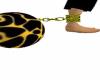 Black&Yellow Ball chain