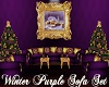 Winter Purple Sofa Set
