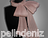 [P] Pink bow scarf