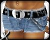 ! chain shorts + black