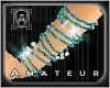 Crystal Aqua Bangles R