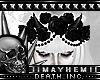 Goth Pvc Flowers Horns