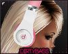 !B White Pink Headphones