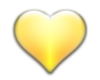 Baby Yellow Heart Stickr