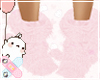 ♚ Pink Fluffy Boots