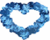 wedding heart blue