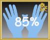 85% Scaler Hands