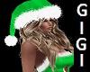 xmas green santa hat