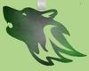 green wolf head