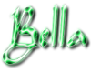 Bella in Emerald Script