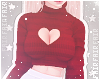 F. Sweater Heart Red