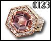 *0123* Pink Diamond Ring