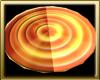 Gold Fire Dizzy Rug