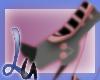 [L] grey/pink boots