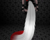 Silver/Red Kat Tail