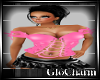 Glo* Corset Top ~Pink