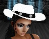ATS~White'76 Cowgirl Hat
