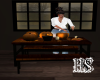 ~ Pumpkin carving table