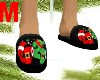 Male Covid Xmas Slippers