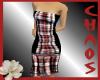 {C}Red Plaid Dress