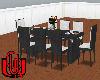 10 Pose Silv.black Table