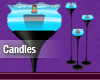 Blue Animated Candles