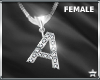"""SF  Letter """"A"""" Necklace"""