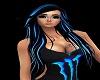 Blue Black Monster Hair