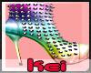 Kei|Rainbow spiked Heels
